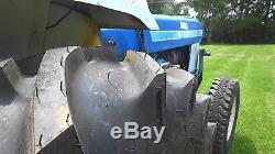 Ford 1510 4wd Tractor with 255 hrs, 770B Loader, 5 ft Tiller, Post Hole Digger