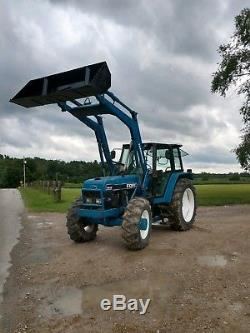 Ford 7840 tractor diesel 4x4, loader, cab, CAN SHIP