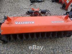 Got Snow! Kubota BX2200 4x4 Tractor Loader Mower Plow Blade Broom Quick Hitch