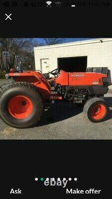 Great 2013 4x4 Kubota L4400-D Tractor 2100 HR add a backhoe loader NO MOWER