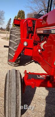 International 786 Diesel Tractor, New Torque & Clutch