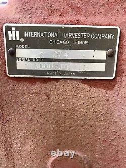 International Harvester 274 Offset Diesel Tractor And Cultivator Rare IH Farmall