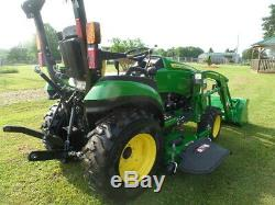 JOHN DEERE 2025R 2018 4WD With LOADER AND BELLY MWR 2HRS AND WARRANTY