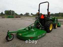JOHN DEERE 3032E 4WD DSL HYDRO LOADER AND BUSHOG 2018 With 121 HRS