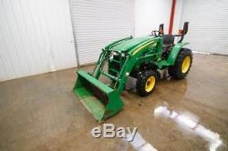 JOHN DEERE 3203 TRACTOR LOADER HST, OPEN ROPS, 32HP, 4x4, CLEAN, ONLY 626 HOURS