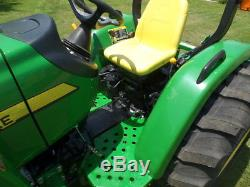 JOHN DEERE 4105 4WD LDR AND FRONTIER RC2072 BRUSHOG 2016 With 41 HRS! MINT
