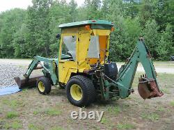 JOHN DEERE 855 COMPACT UTILITY TRACTOR 4WD with 52 Loader and 7 Backhoe, DIESEL