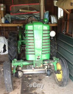 JOHN DEERE M TRACTOR With attached Woods L59 Belly Mower JUST REDUCED