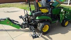 John Deere 1025R Sub-Compact Utility Tractor 2016 Backhoe Front Loader