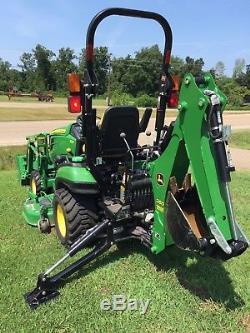 John Deere 1025r 4wd Tractor Loader Backhoe 60 Mower Deck Only 94 Hours