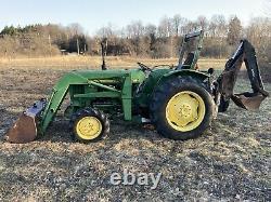 John Deere 1050 4x4 Farm Tractor Loader Backhoe