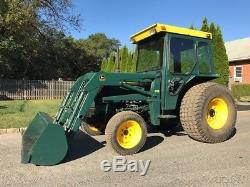 John Deere 1050 Tractor Loader 4x4 3 Point PTO Cab Diesel Farm Tractor