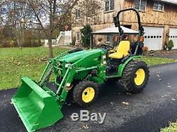 John Deere 2032R Diesel Tractor, 18Hrs, 32HP, 4x4, Hydro, R4 Tires, H130 Loader