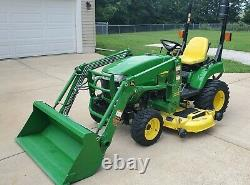 John Deere 2305 200X Loader and 62C Deck only 142 hours