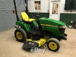 John Deere 2305 Diesel Compact Mower Tractor 4x4 24 HP Power Steer Hydro 54 Cut