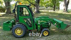 John Deere 2720 4wd Tractor with Loader Heated Cab Wheel Weights Counter weight