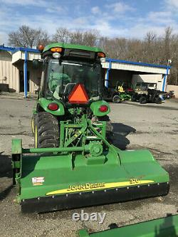 John Deere 3046R Tractor withCab, A/C, Loader, Mower, Snow Blower, Forks, More