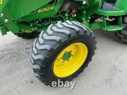 John Deere 4052M Farm Tractor with Loader Backhoe 4x4 PTO 3pt Hydrostatic