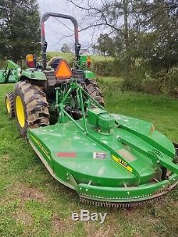 John Deere 4066r 66hp compact utility tractor with front loader and rotary cutter
