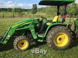 John Deere 4120 4 X 4 Loader Tractor Backhoe