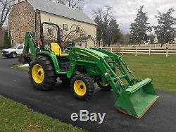 John Deere 4520 Diesel Tractor, 435 Hrs, 53 HP, 4x4, Hydro, Loader & 448 Backhoe