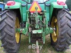 John Deere 4x4 Tractor WithCab, 640 loader Pwr shift. 6120 Hrs. Everything works
