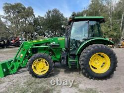 John Deere 5085e Cab Tractor Loader