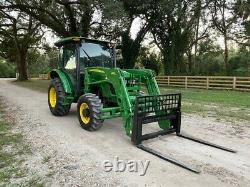 John Deere 5325 4x4 Farm Tractor Enclosed A/c Heat Cab Rear Remotes