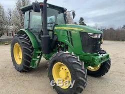 John Deere 6120E Farm Tractor. 4x4. Cab Air. Power Shuttle. Super Nice. Warranty