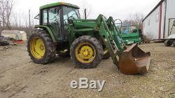 John Deere 6400 Cab Loader Tractor