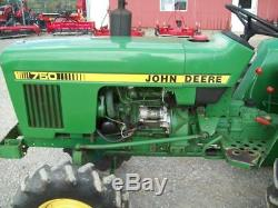 John Deere 750, 4-Wheel Drive Compact Diesel Tractor, Runs Good