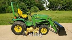 John Deere 755 Compact Utility Tractor with 70 loader and 60 Deck