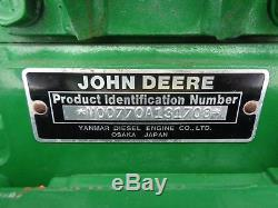 John Deere 770 Tractor with JD 70 Front Loader, 4WD, 60 Belly Mower, BEAUTIFUL