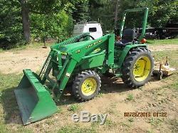 John Deere 790 Tractor 4x4 Loader, Mower