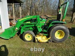 John Deere 790 compact tractor loader