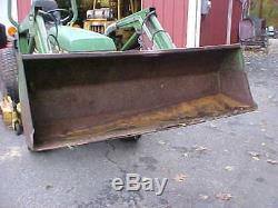 John Deere 855 / 4 Wheel Drive Tractor with Loader and Belly Mower