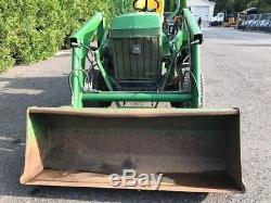 John Deere 855 Tractor 24 Hp Diesel 4x4 Front End Loader PTO 3 Point Hitch
