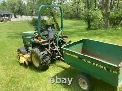John Deere Tractor 1988 755 Model 2WD 922 hours Utility Cart and Box scraper
