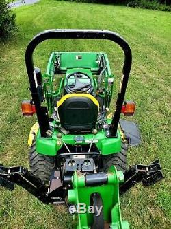 John Deere Tractor, 2305, 62 Mower Deck, 200CX Loader, 260 Backhoe-161 hours