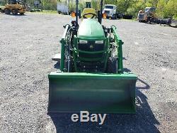John Deere Tractor 4x4 Loader Backhoe Belly Mower