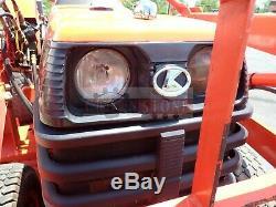 KUBOTA B7500 TRACTOR With LA302 LOADER, 4X4, 21 HP DIESEL, 674 HRS, MOWER, 540 PTO