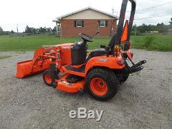 KUBOTA BX1860 4WD TRACTOR LOADER With BELLY MOWER 2013 With52HRS