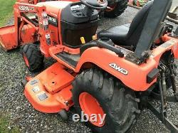 KUBOTA BX2200 COMPACT TRACTOR With LOADER & 60 MOWER DECK. 4X4. HYDRO. RUNS GREAT