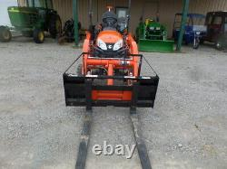 KUBOTA BX23S 4WD LDR BACKHOE FORKS POST HOLE DGR 2019 With 70 HRS! EXC. COND