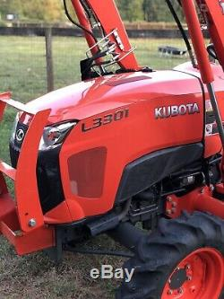 KUBOTA L3301 4x4 loader tractor 3 Point PTO 4WD Diesel Compact Hydrostatic