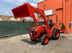 KUBOTA L3301HST TRACT With LOADER & LAND PLANER, 2 POST ROPS, 4X4, 540 PTO, 33 HP
