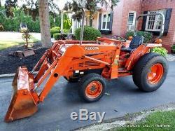 KUBOTA L3650 GST Tractor LA650 Loader 60 Bucket 3497Hrs 4WD DIESEL 40HP NICE
