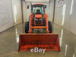 KUBOTA M8540D 4X4 CAB WITH A/C HEAT, LA1353 LOADER With QUICK ATTACH