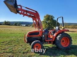 Kioti DK40SE HST 4x4 tractor KL402 loader 41HP Diesel used compact utility 958hr
