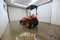 Kioti Dk35 Compact Utility Tractor, Open, 2 Post Canopy